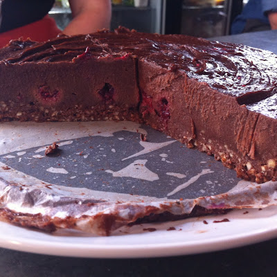 Raw Chocolate + Raspberry Cheesecake