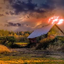 Abandoned by Chris Kontoravdis - Buildings & Architecture Decaying & Abandoned ( clouds, nature, color, travel, landscape )