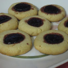 Raspberry Lemon Thumbprint Cookies