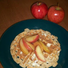 Low-Fat Apple Ginger Spice Whole Wheat Waffles