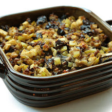 Prune and Apple Stuffing with Sausage
