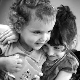 two sisters by Manu Rochet - Babies & Children Children Candids