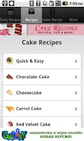 Screenshot of Cake Recipes!