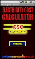 Screenshot of Electricity Cost Calculator