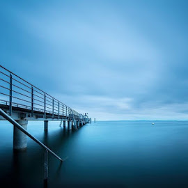 by Joanna Möhr - Landscapes Waterscapes ( lake of constance, blue hour, lakes, long exposure,  )