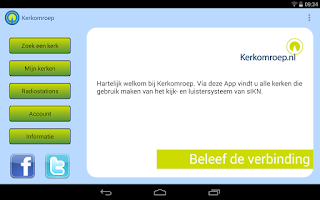 Screenshot of Kerkomroep