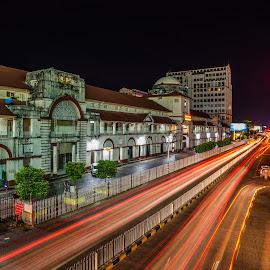 by Thet Zaw Nyunt - City,  Street & Park  Street Scenes