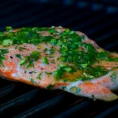 Grilled Salmon with Dill Butter Recipe