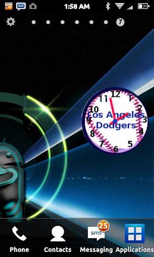 Los Angeles Dodgers Team Clock