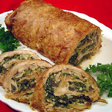 Spinach Stuffed Turkey Roll Redone