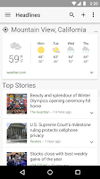 Screenshot of Google News & Weather