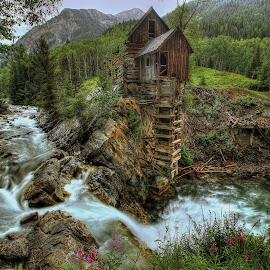 Crystal Mill Riverside by Ryan Smith - Buildings & Architecture Decaying & Abandoned ( crystal mill, crystal river, colorado, west, abandoned )