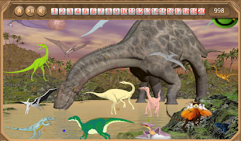 Screenshot of Dinosaur World Hidden Numbers
