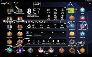 Screenshot of LC Pumpkin Theme Go/Nova/Apex