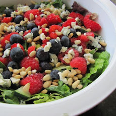 Garden Salad With Raspberry Poppy Seed Dressing