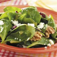 Dijon-Walnut Spinach Salad Recipe