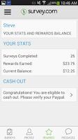 Screenshot of Survey.com Mobile