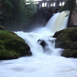 Potholes by Taylor Olson - Nature Up Close Water ( beautiful, dam, waterfall, northwest, slow shutter )