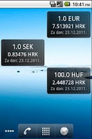 Screenshot of HNB exchange rate