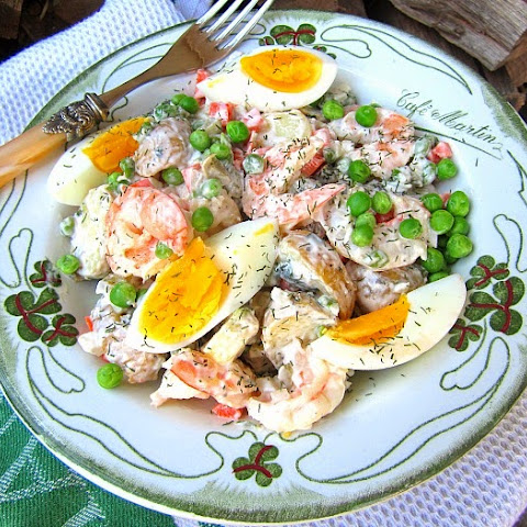 Russian Shrimp & Potato Salad Olivier