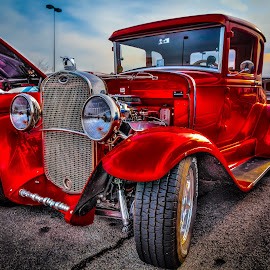 Red Coupe by Ron Meyers - Transportation Automobiles ( 5-20-2014 tulsa auto club )