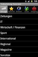 Screenshot of OnlineZeitung Österreich