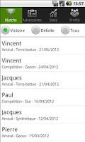 Screenshot of Tennis perf