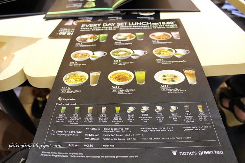 Yong Green Food Menu