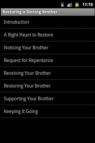 Restoring a Brother in Sin