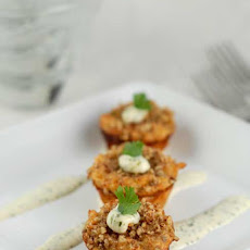 Gluten Free Mini Crab Cakes w/ Lime and Cilantro Aioli