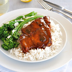 Sticky Pantry Chicken with Rice and Broccolini