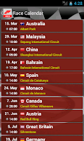 Screenshot of Race Calendar 2015