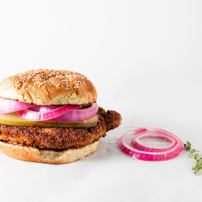 Crispy Pork Sandwich + Pickled Red Onions