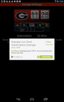 Screenshot of Georgia Bulldogs Live Clock