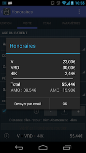 Honoraires - screenshot