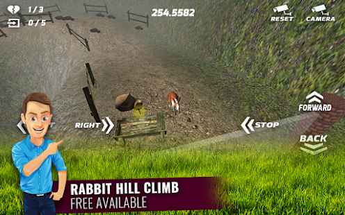 Cute Rabbits Hill Climb - screenshot