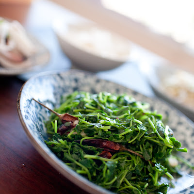 Pea Shoots- Chinese style