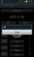 Screenshot of Pro Audio Tone Generator