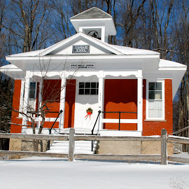 Five Mile School house by Gregory Smith - Buildings & Architecture Homes ( snow, winter, cold )