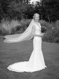 Rachael wearing wedding dress 'Tabitha'.
