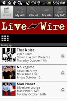Screenshot of Live Wire