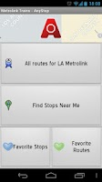 Screenshot of Metrolink LA: AnyStop