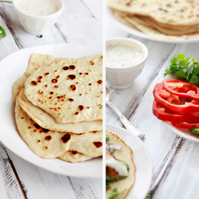 Whole Wheat Indian Naan and Grilled Tandoori Chicken Wraps