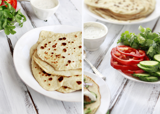 Whole Wheat Indian Naan and Grilled Tandoori Chicken Wraps Recipe ...