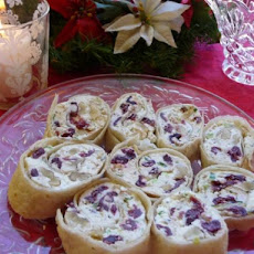 Herbed Chevre, Craisin and Walnut Pinwheels