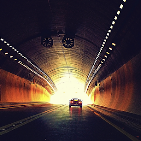 the light at the end of the tunnel by D K - Transportation Automobiles ( autombiles, tunnels, drives )