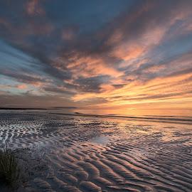 Sunset at Low Tide by Steve Morrison - Landscapes Sunsets & Sunrises