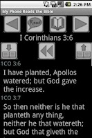 Screenshot of Free KJV My Phone Reads Bible