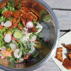 Make-Ahead Radish Fattoush Salad