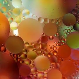 Inner World by Janet Herman - Abstract Macro ( water, abstract, macro, ellipse, bubbles, close up )